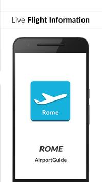 Rome Fiumicino Airport: Flight information FCO poster