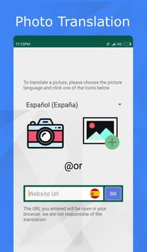 Translator for text, web pages & photos. 100% free screenshot 2