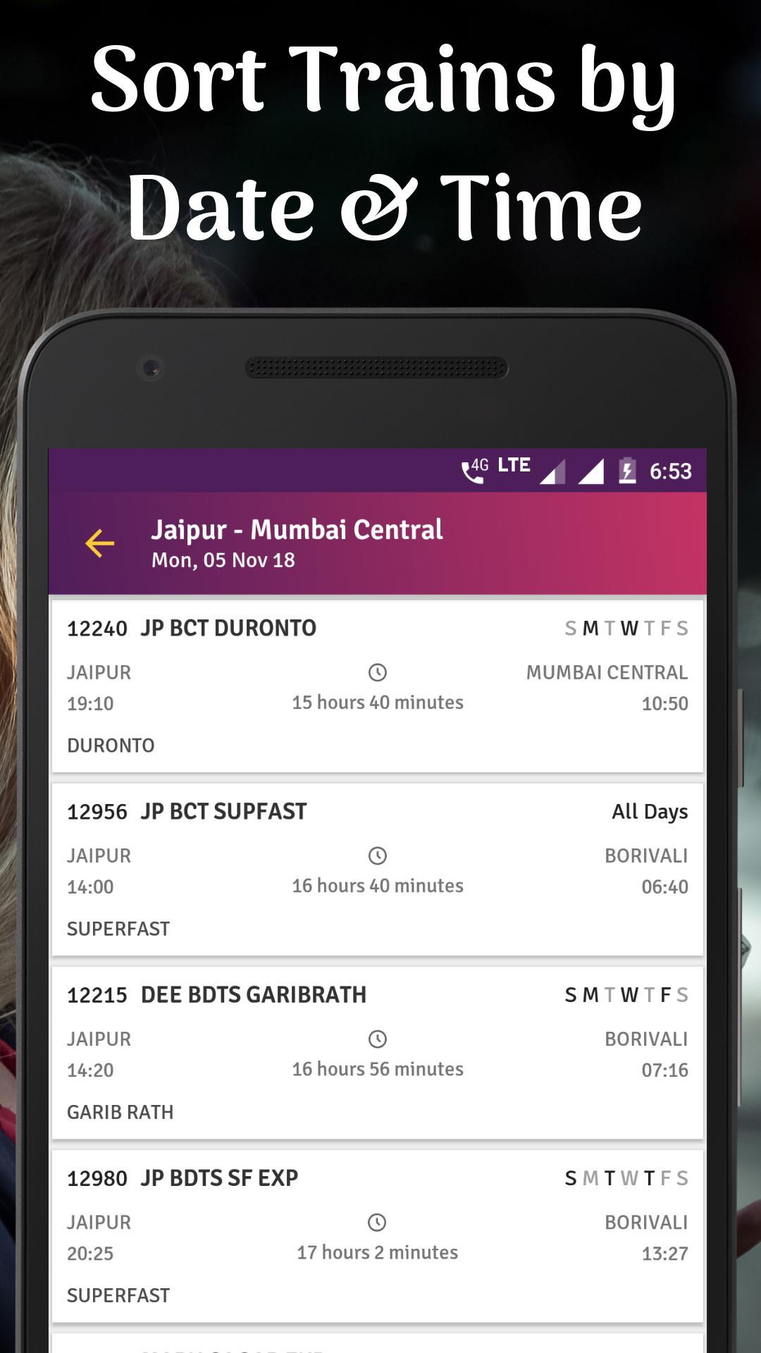 Train PNR Status, Rail Running Status, Train Info for