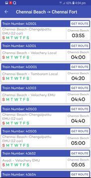 Chennai Suburban Train Timings App screenshot 7