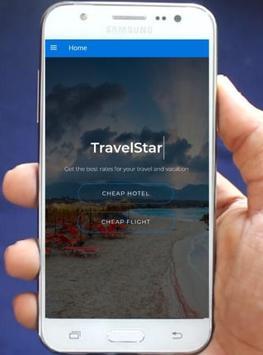 Travel Star - Cheap Flights & Hotels Deals poster