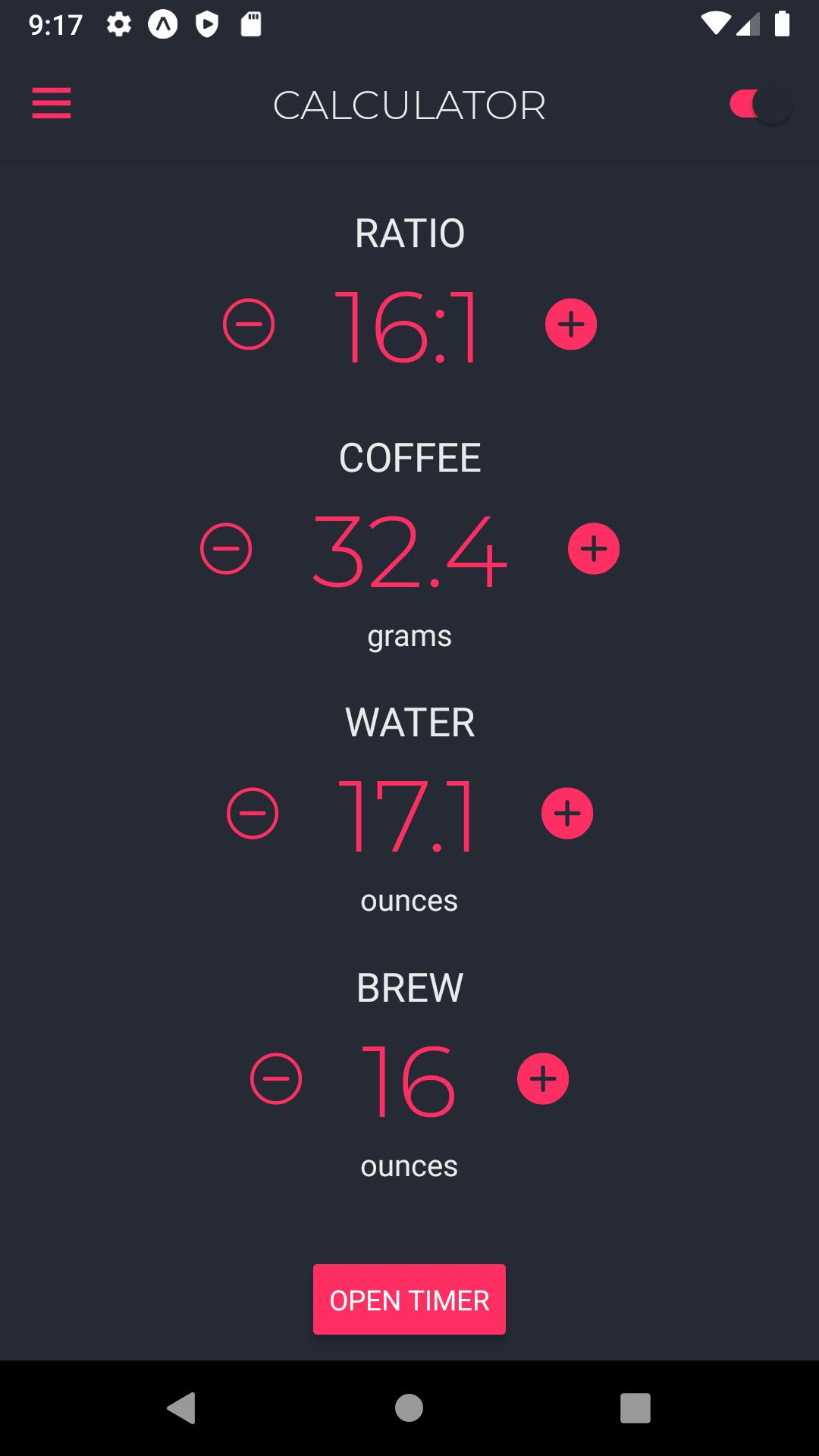 Coffio Minimalist Coffee Brewing Calculator For Android Apk Download