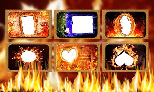 fire text  name art photo frame editor screenshot 4