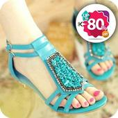 footwear 80% discount icon