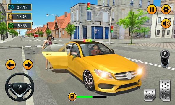 Taxi Driver - 3D City Cab Simulator screenshot 1