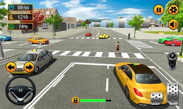 Taxi Driver - 3D City Cab Simulator screenshot 2