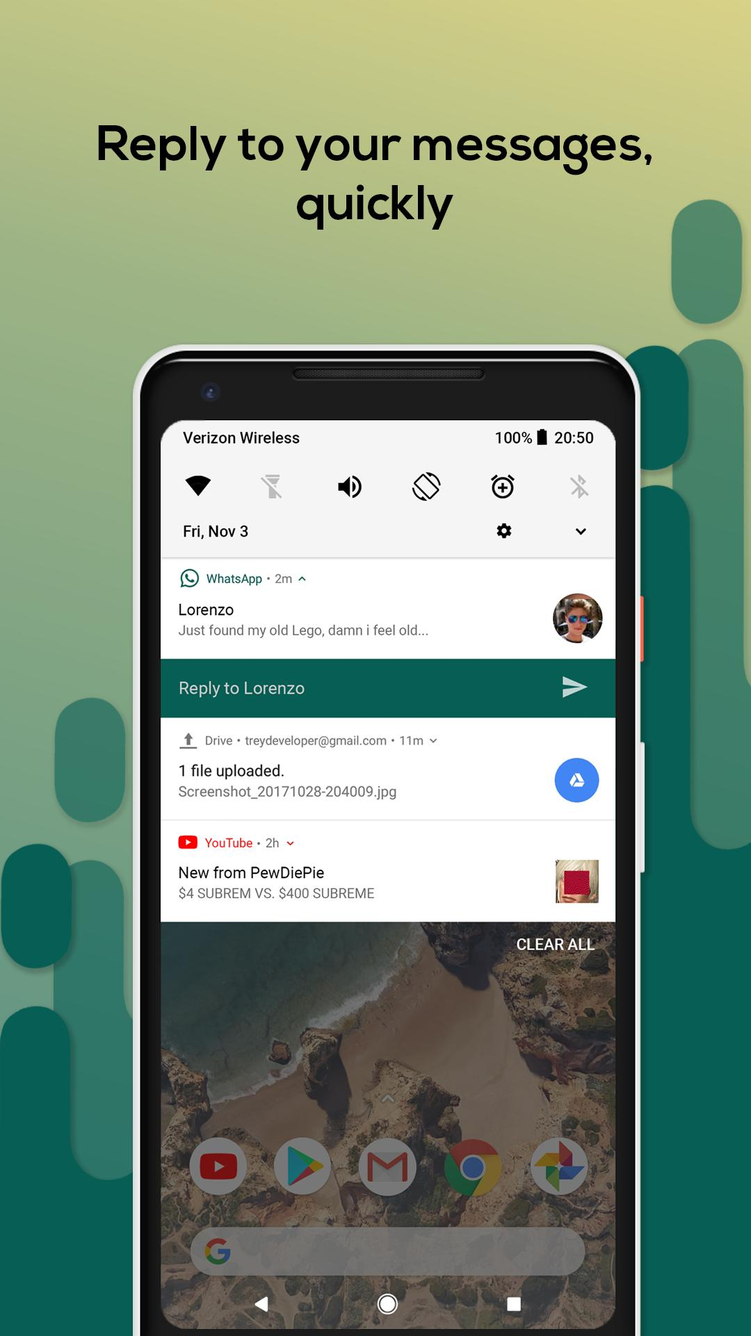 Material Notification Shade for Android - APK Download