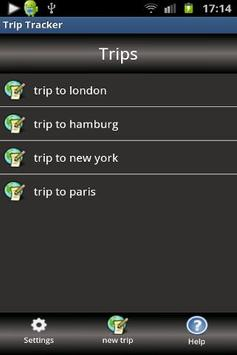 Trip Tracker screenshot 1
