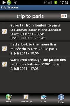 Trip Tracker screenshot 2