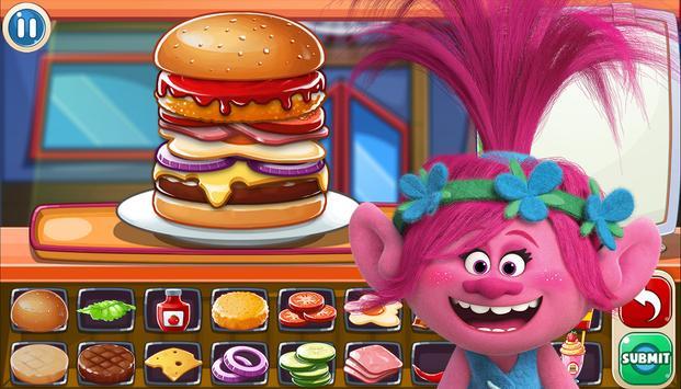 Poppy Chef Burger Trolls screenshot 4