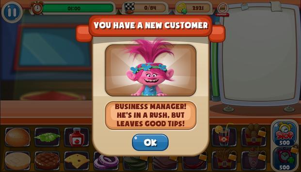 Poppy Chef Burger Trolls screenshot 8