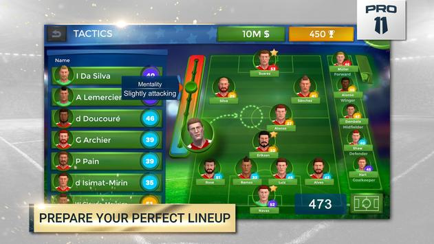 Pro 11 - Soccer Manager Game screenshot 1
