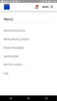 TRUMPF Easy Order App screenshot 1
