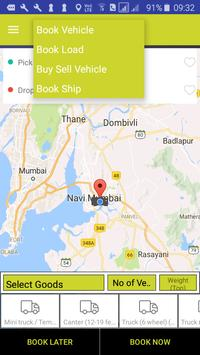 Book Truck or Load for intercity goods transport. screenshot 1