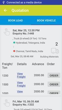 Book Truck or Load for intercity goods transport. screenshot 4