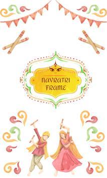 Navratri Photo Frame poster