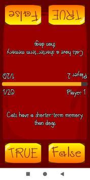 True False Trivia Cats quiz screenshot 3