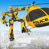 US Police Robot Hero - Helicopter Transformation icon