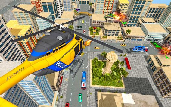 US Police Robot Hero - Helicopter Transformation screenshot 11