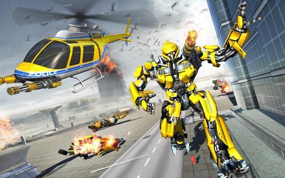 US Police Robot Hero - Helicopter Transformation screenshot 4