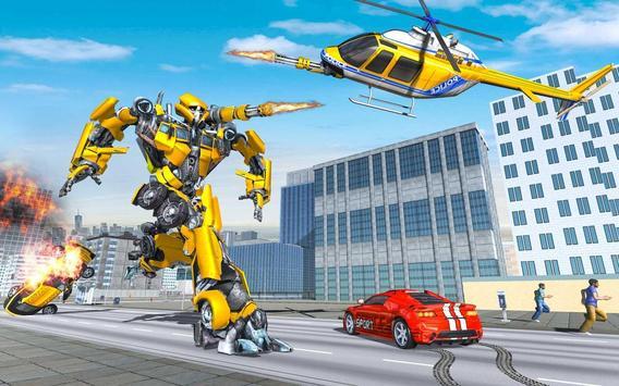 US Police Robot Hero - Helicopter Transformation screenshot 5