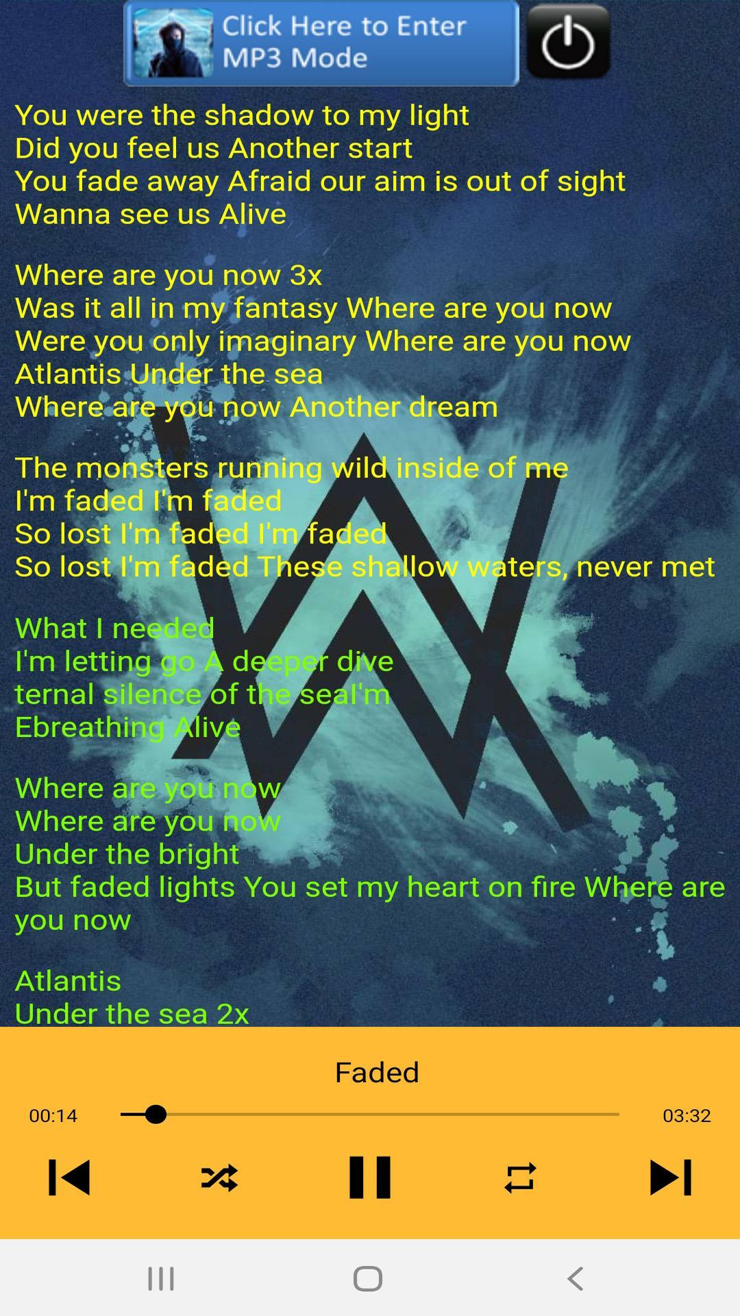 Alan Walker Song Plus Lyric For Android Apk Download