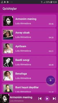 Lola Ahmedova qo'shiqlari screenshot 2