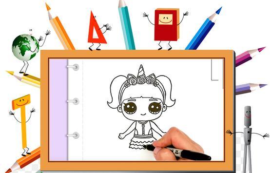 DrawDolls : How to draw cute dolls in steps 2018 screenshot 3