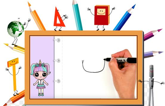 DrawDolls : How to draw cute dolls in steps 2018 poster