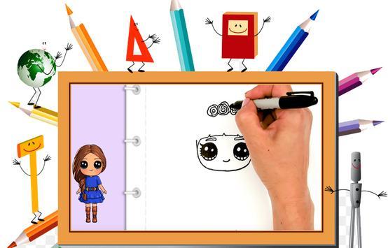 DrawDolls : How to draw cute dolls in steps 2018 screenshot 1