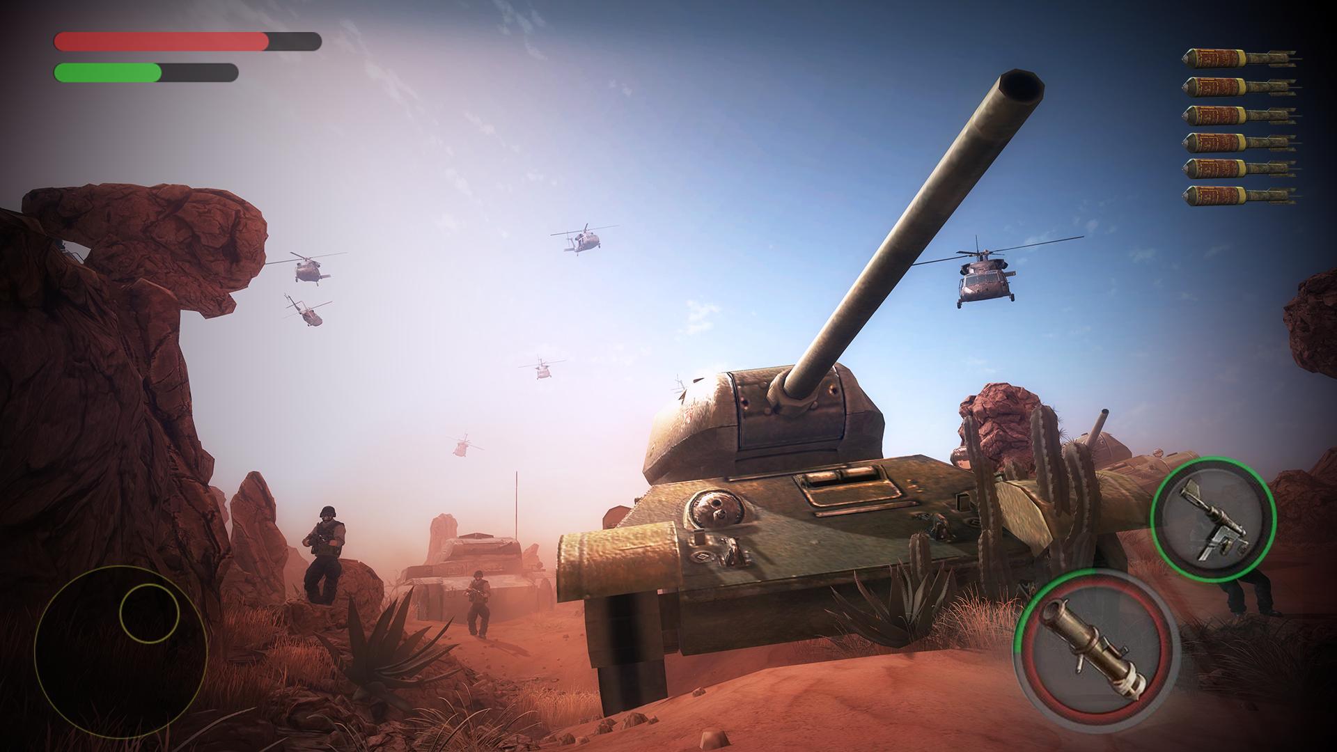Real War Of Tanks Blitz : Free Tank Shooting Game for