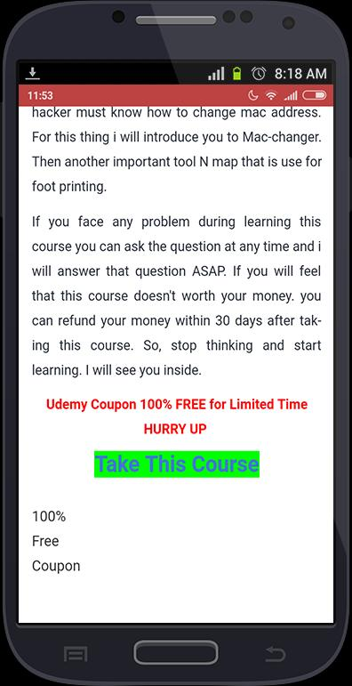 Udemy Free Coupons for Android - APK Download