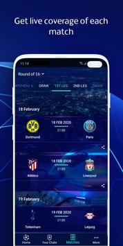 UEFA Champions League football: live scores & news تصوير الشاشة 2