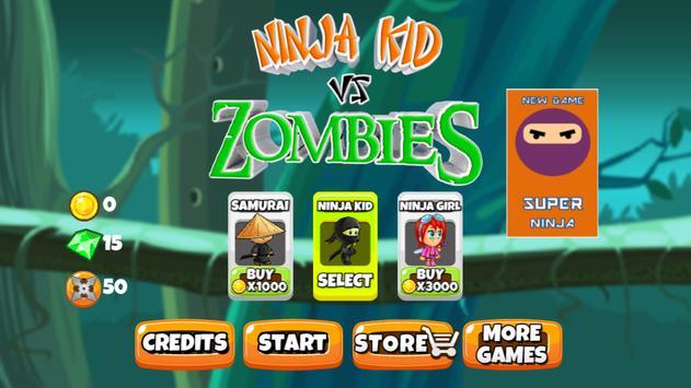 Ninja Kid vs Zombies poster