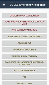 UGDSB Emergency Response Plan bài đăng