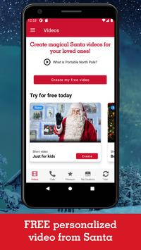 PNP–Portable North Pole™ Calls & Videos from Santa poster
