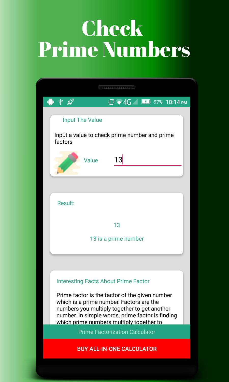 Prime Factorization Calculator for Android - APK Download