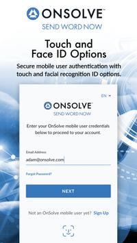 OnSolve Send Word Now Mobile capture d'écran 1