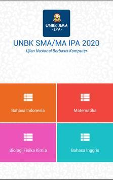 UNBK SMA IPA 2020 (Ujian Nasional) poster