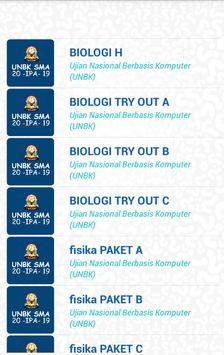 UNBK SMA IPA 2020 (Ujian Nasional) screenshot 1