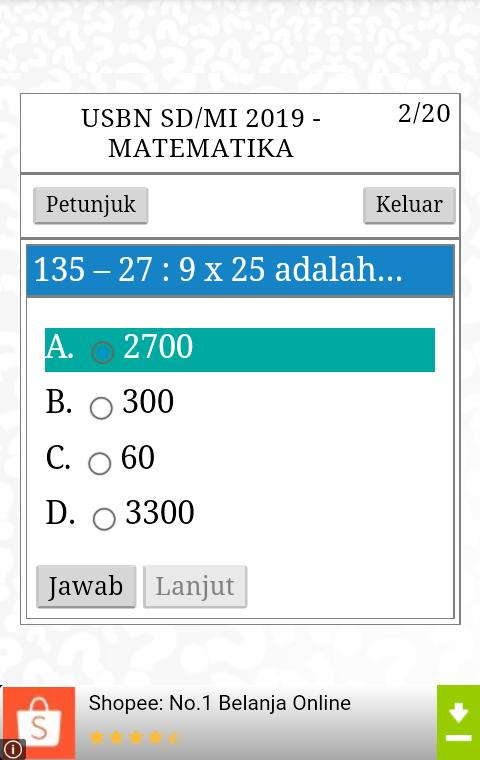 Usbn Sd 2020 Ujian Nasional Sd For Android Apk Download