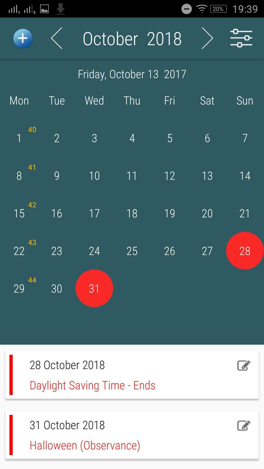 UK Calendar App with Holidays for Android - APK Download