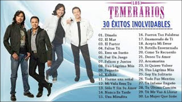 Musica Los Temerarios Canciones For Android Apk Download