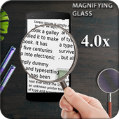 Magnifier , Magnifying Glass with Flash Light icon