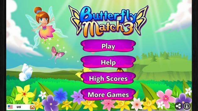 Butterfly Match 3 screenshot 2