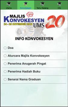Majlis Konvokesyen UMS Ke-20 screenshot 4
