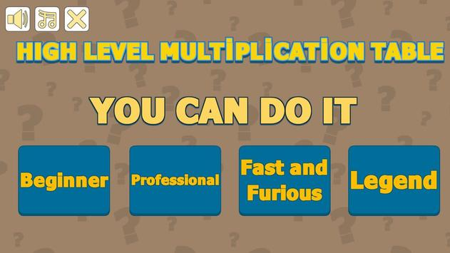 High Level Multiplication Table screenshot 14