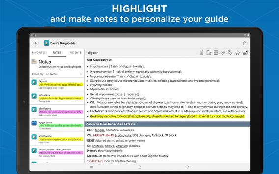 Davis's Drug Guide captura de pantalla 10
