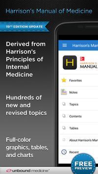 Harrison's Manual of Medicine poster