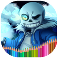 Coloring book for Undertale
